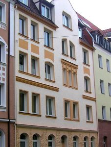 Stadtfassade in Nürnberg-Schoppershof